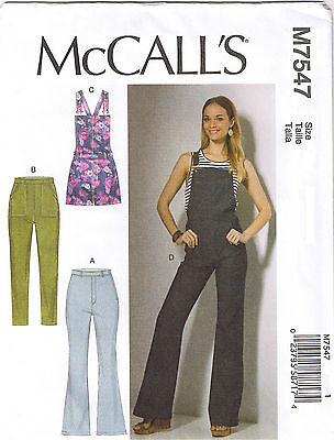 8caa1deb9c0 Overalls Rompers Flared Skinny Jeans Pants Sewing Pattern Plus 14 16 18 20  22