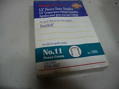 "No. 11 BOSTITCH Power Crown 1/2"" (12mm) Heavy Duty Staples 1000 Pack"