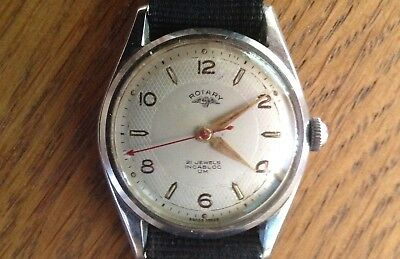 Vintage Rotary Mens 21 Jewel Incabloc Swiss Made Watch - Working