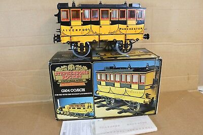 HORNBY G104 3.5 INCH GAUGE STEPHENSONS ROCKET COACH MINT BOXED np