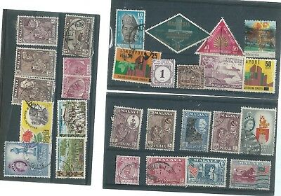Malaya  And States Used Stamp Collection