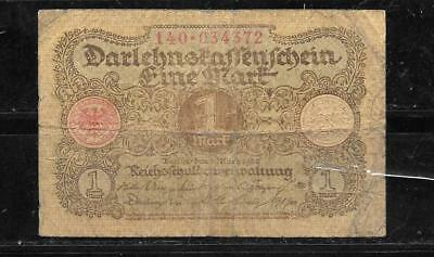 GERMANY #58 1920 VG CIRC OLD MARK OLD VINTAGE BANKNOTE PAPER MONEY currency NOTE