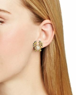 5749e4c28ed2a NWT KATE SPADE New York Shore Thing Crab Studs Earrings gold crystal eyes  claw