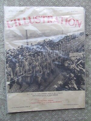 L'Illustration  - weekly French magazine - 14 March 1936 cover Germany Mobilises