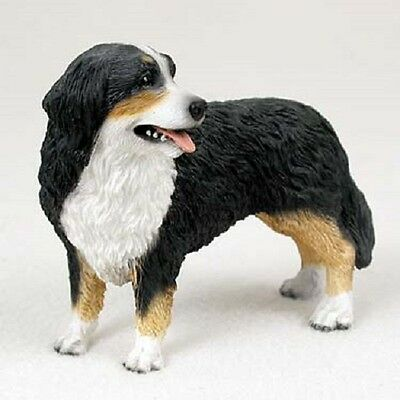 BERNESE MOUNTAIN DOG resin HAND PAINTED FIGURINE Statue COLLECTIBLE Mtn puppy