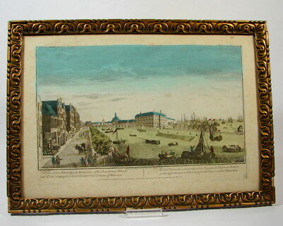 Admiralty at Amsterdam Holland Kupferstich altkoloriert 1752 East India Company