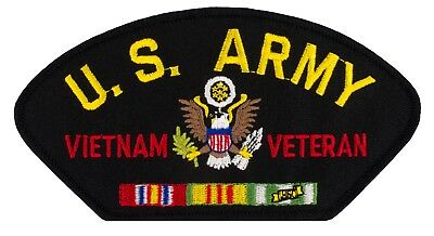 US Army - Vietnam Veteran - Iron-on Embroidered Patch (1444P) FREE SHIP! 44688