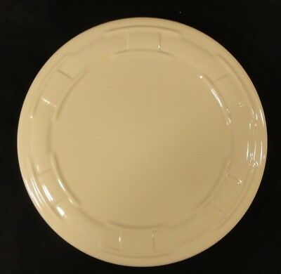 "Longaberger Woven Traditions Ivory Pillar Candle Holder Plate 8.5"" Round sk"