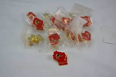 Unknown Year Wisconsin Ducks Unlimited Pin Lot of 25 sealed in original bags.