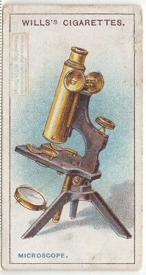 Early Compound Optical Microscope Optics Science 1915  Ad Trade Card