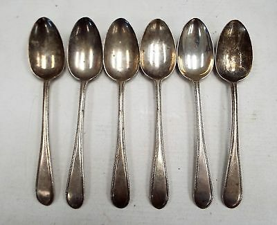 6 x Hallmarked STERLING SILVER Spoons Exeter 1879 JW - H23