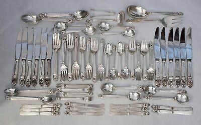 Royal Danish by International Sterling Silver 127 Piece Dinner Flatware Set for