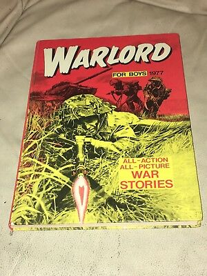 Vintage Warlord Book For Boys Annual Dated 1977 Unclipped