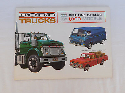 1963 Ford Trucks Full Line Catalog Over 1,000 Models Brochure & Specifications