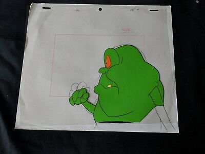 The Real Ghostbusters 1987 Production SLEEPING SLIMER Cel & Pencil