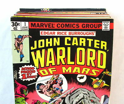 Lot Of 19 JOHN CARTER WARLORD OF MARS Comics #1-19 + Annuals Marvel Bronze Age