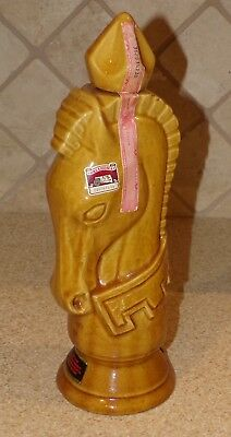 VTG Desert Gold China Old Crow Kentucky Bourbon Chess Piece Bottle Knight Horse
