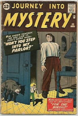 JOURNEY INTO MYSTERY # 80    Awesome PRE-HERO Book!