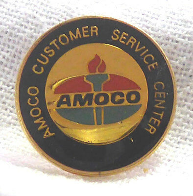 Vintage Amoco Customer Service Center Pin - Amoco Gas & Oil Employee Pin
