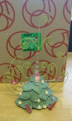 Patience Brewster Dept 56 Christmas Tree Card Holder 10 Inches