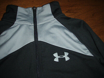 Under Armour coldgear loose boys youth L YLG zip front jacket warm up black