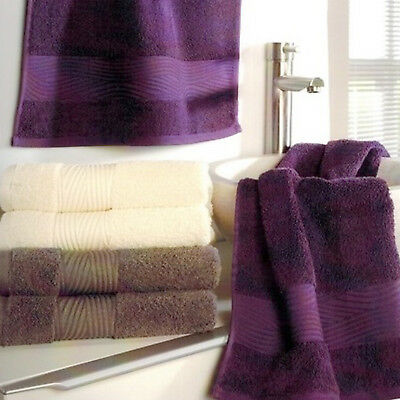 Set of Two Terry Cloth Towels 50x100cm 100% Cotton 500 g/m² Beige Hand Towel