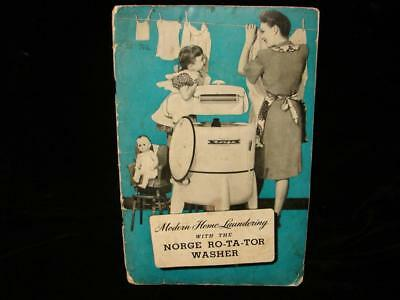 """Vintage """"norge Ro-Ta-Tor Washer"""" 1946 Manual - Meet The Martins!!!"""