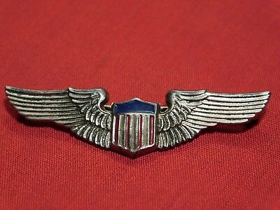 WWII US Army Pilot Wing Sweetheart or Patriot Pin Coro Sterling