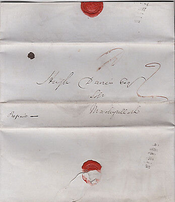 1840 Ceredigion, West Wales Aberystwyth old solicitors letter h/s 2d