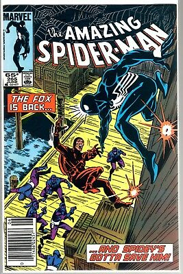 Marvel Comics AMAZING SPIDER-MAN #265 FIRST APPEARANCE OF SILVER SABLE NEWSTAND