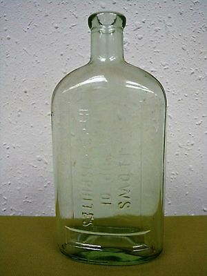 Antique Green Glass Bottle Fellows Syrup of Hypophosphites England