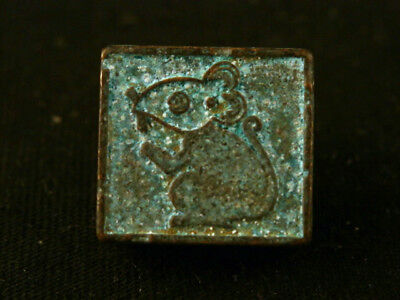 Fine Chinese Bronze *Rat* Small Seal Pendant Y101
