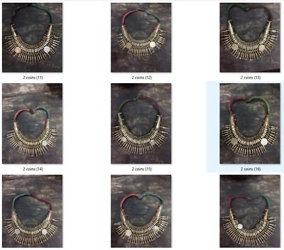 Wholesale Antique Vintage Old Tharu Tribal Alloy Silver Necklace 50 pcs Nepal