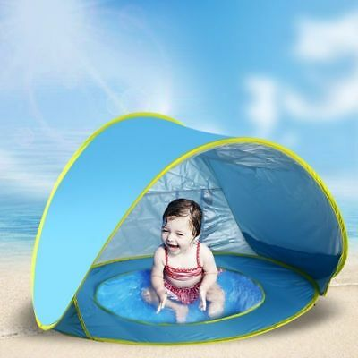Kids Canopy Portable Infant Baby Beach Tent Pop Up Pool with Sun Shade Shelter