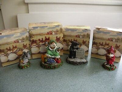 Petersen Wee Forest Folk Set of 4 Christmas Carol-Past, Present, Future, Scrooge