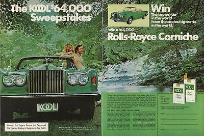 The KOOL $64,000 Sweepstakes Rolls-Royce ad 1975