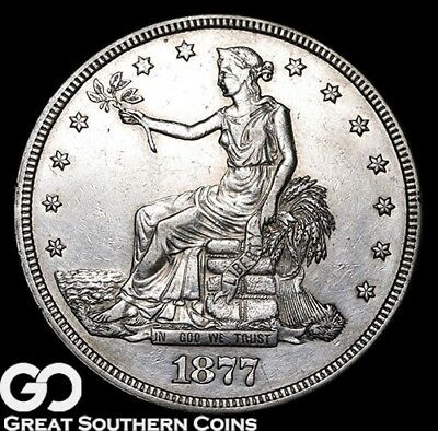 1877 Trade Dollar, Always In Demand Silver Dollar Series, ** Free Shipping!