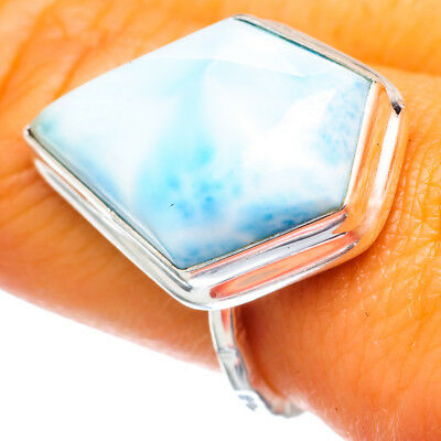 Larimar 925 Sterling Silver Ring Size 7.75 Ana Co Jewelry R893864