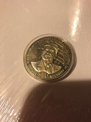 Republic of liberia 2004 coin~Marked $10