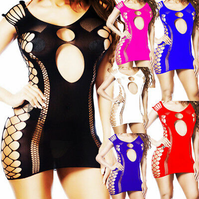 Women Lingerie Nightwear Sleepwear Bodystocking Bodysuit Mini Babydoll HOT Teddy