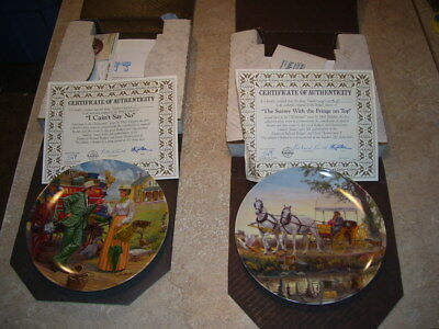 Pair Edwin Knowles Oklahoma Musical Collector Plates