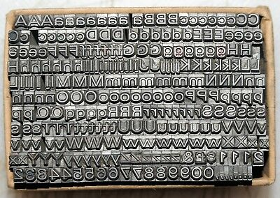 10pt Univers Expanded Metal  letterpress Type ADANA EIGHT FIVE  8 x 5