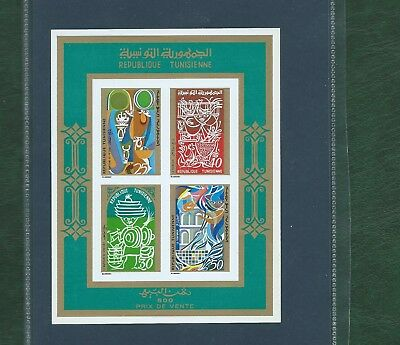 Tunisia 3 different unmounted mint minisheets MNH 2 imperf