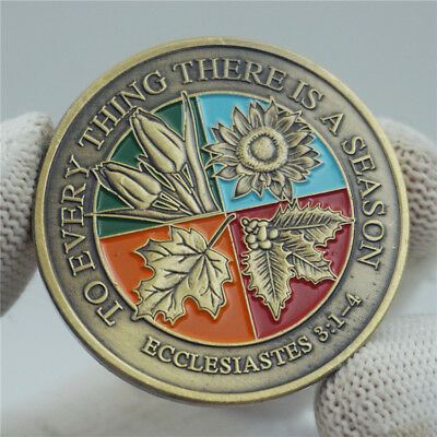 Bible Story To Every Thing There is a Season Preach Ecclesiastes Coin Token
