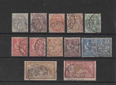 Alexandria , 1902, Sg19/29 And Sg32/33 , Used....cat Val £14.00+