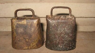 2 Small Vintage Cow / Calf Bells