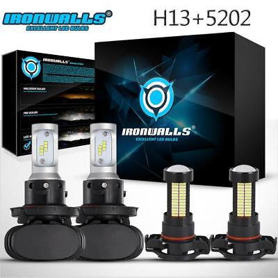 4x Combo H13 5202 2504 LED Headlight Kit Fog Light for For Ford Escape 2008-2012