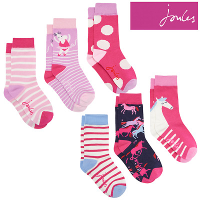 Joules Girls Brilliant Bamboo Socks - 3 Pack (Z)