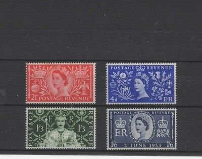 Great Britain ' Coronation ' 1953, Sg532/5 Full Mh Set....cat Val £15.00+