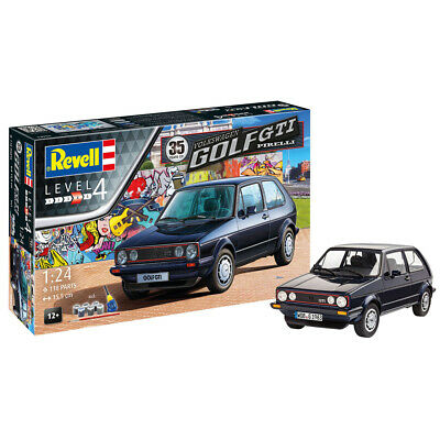 Revell Volkswagen Golf GTI Pirelli 35 Years Car Model Kit Scale 1:24 05694 NEW